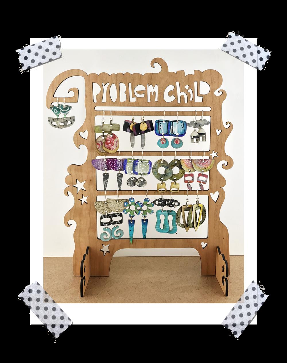 Custom wood display for retail sales