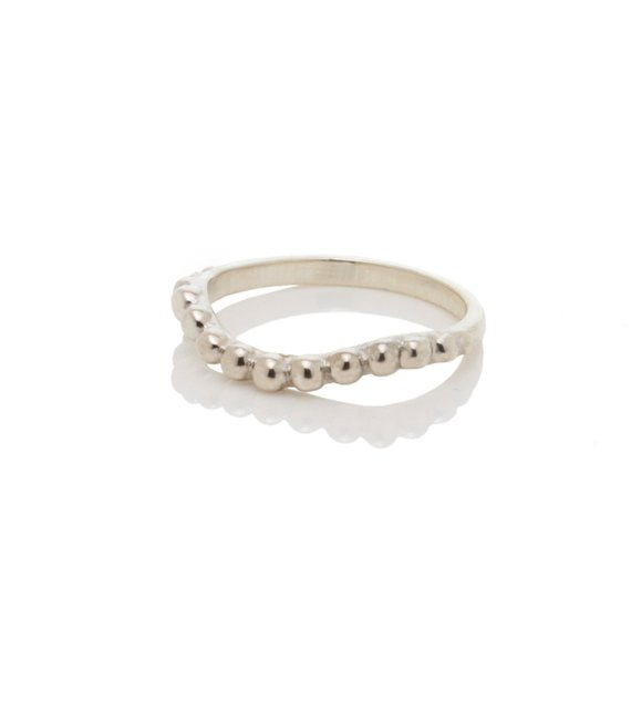 """""""Pearl Necklace"""" Ring, Sterling Silver, 2010"""