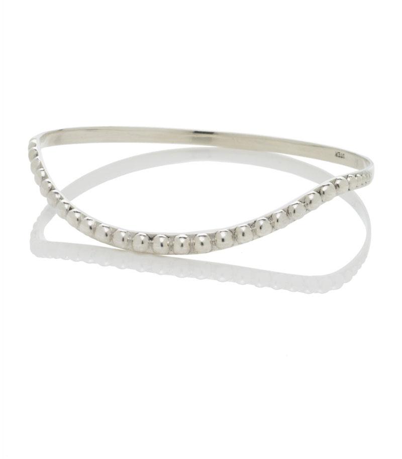 """Pearl Necklace"" Bracelet, Sterling Silver, 2011"