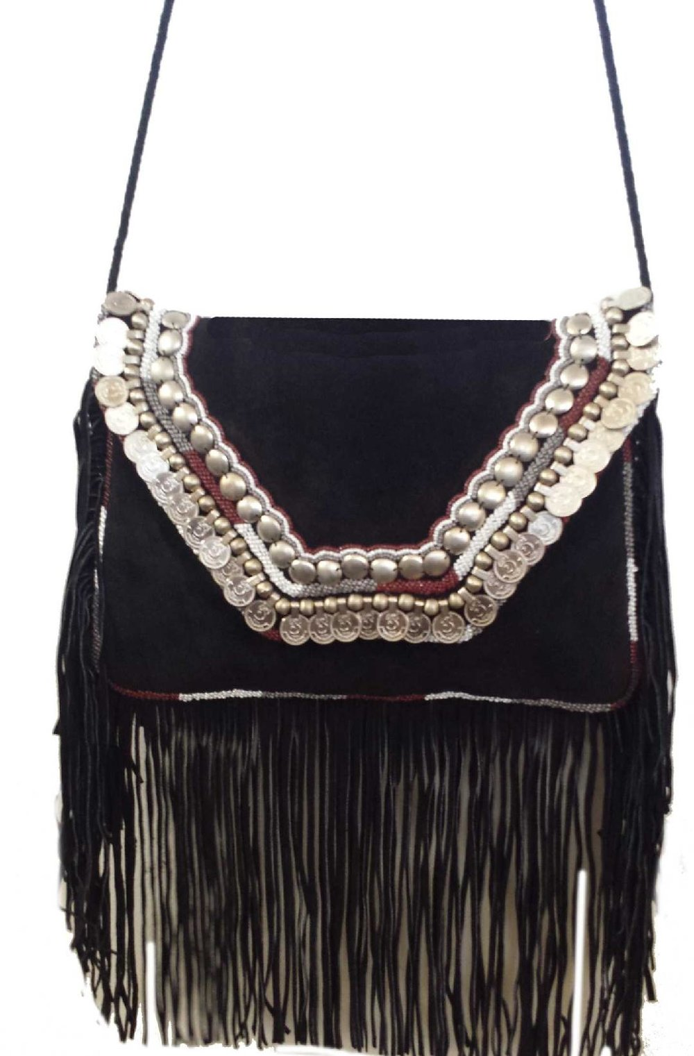 Black Fringe and Disc Purse — Chickie   Co. 566ea223f4384