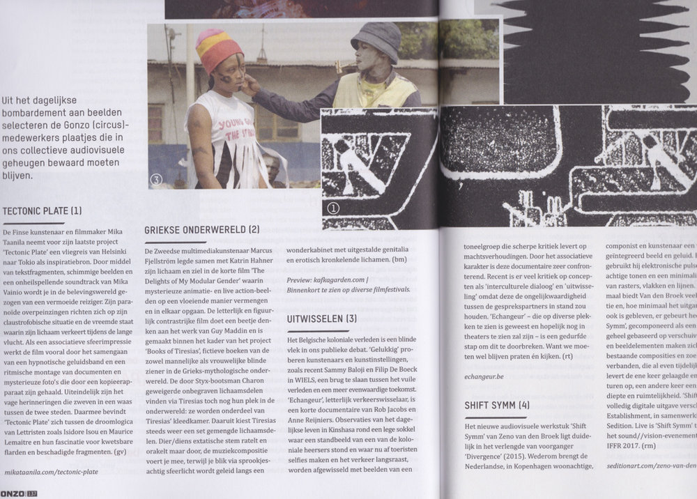 Article published in Gonzo (Dutch, January 2017)