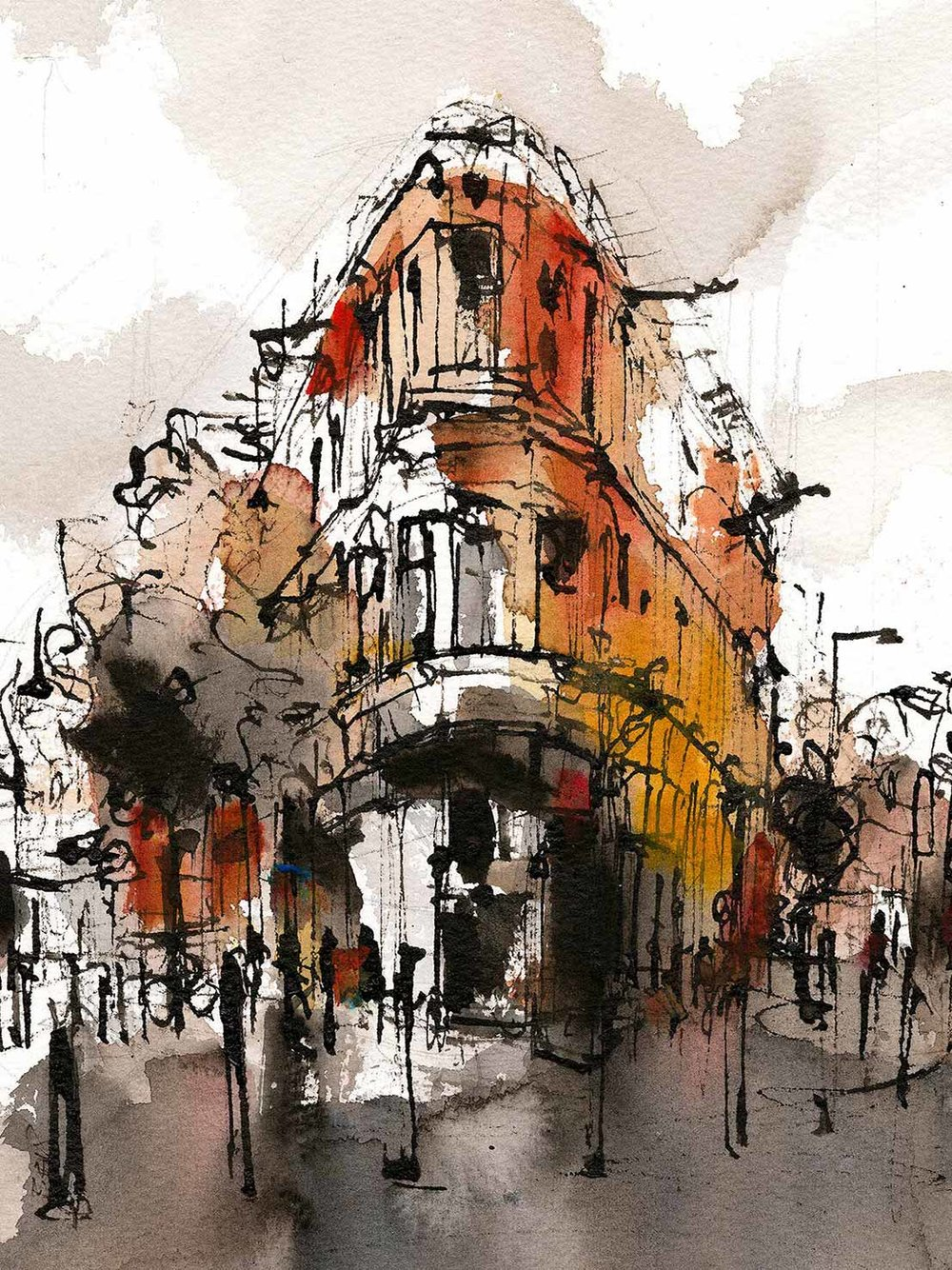 The Exchange, Leicester. Mixed Media (sold)