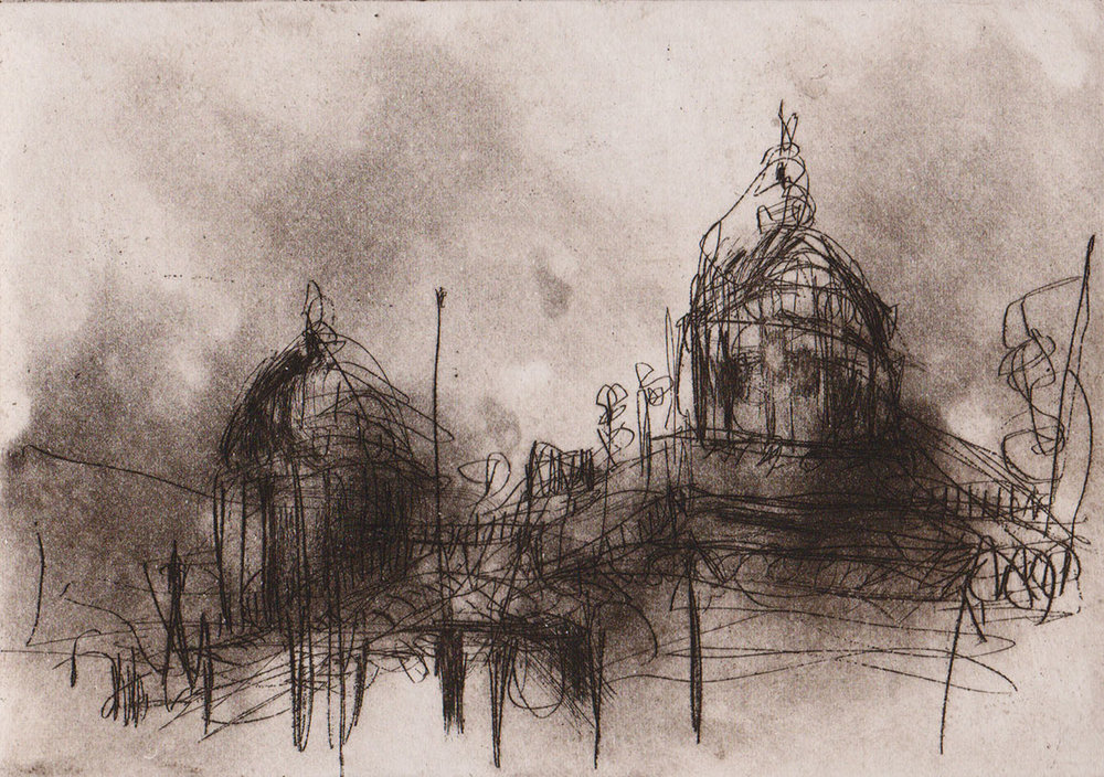 Old NatWest bank, St Martin's,Leicester - (Etching - Variable Edition 1 off 25)