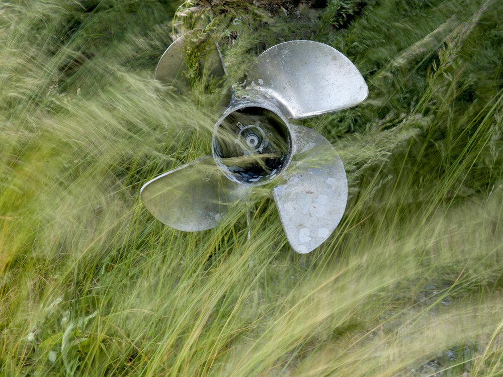Propeller & Grass -