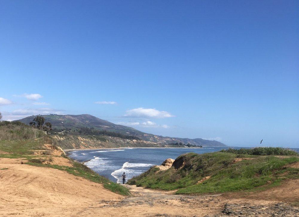 Beach access via the Carpinteria Bluffs.
