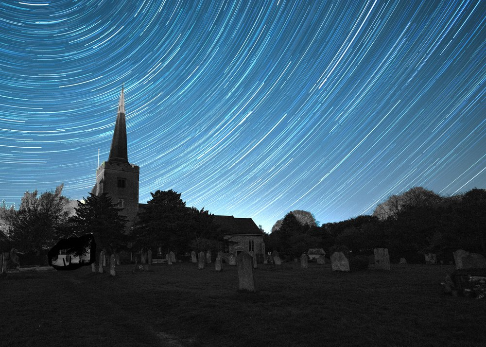 church star trail final B&W post card.jpg