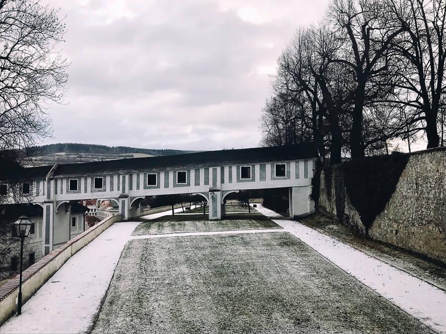 The Reluctant Photographer - Český Krumlov Cloak Bridge in the snow.jpg
