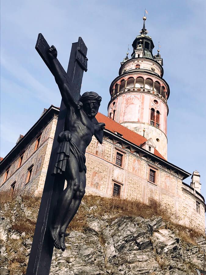 The Reluctant Photographer - Český Krumlov Castle and Christ on Cross.jpg