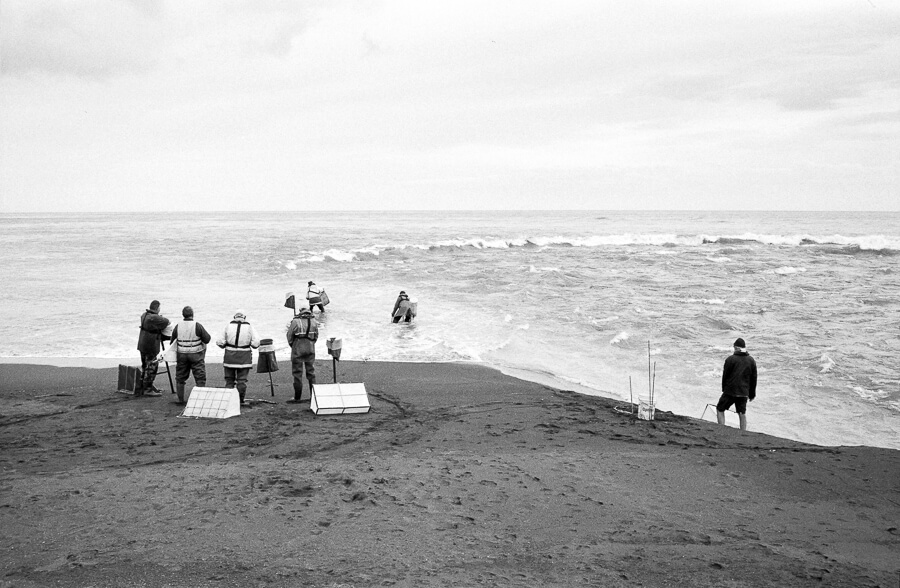 Fuji Neopan 400 - Whitetbaiters at Lake Ferry Bar.jpg