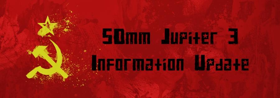 50mm Jupiter 3 f/1.5 Information