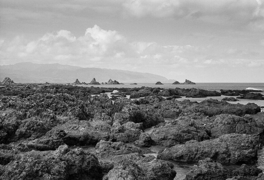 Ilford HP5 Plus - Around the Bays - View Across the Rock Pools.jpg