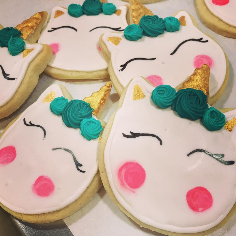 Custom Unicorn Sugar Cookies