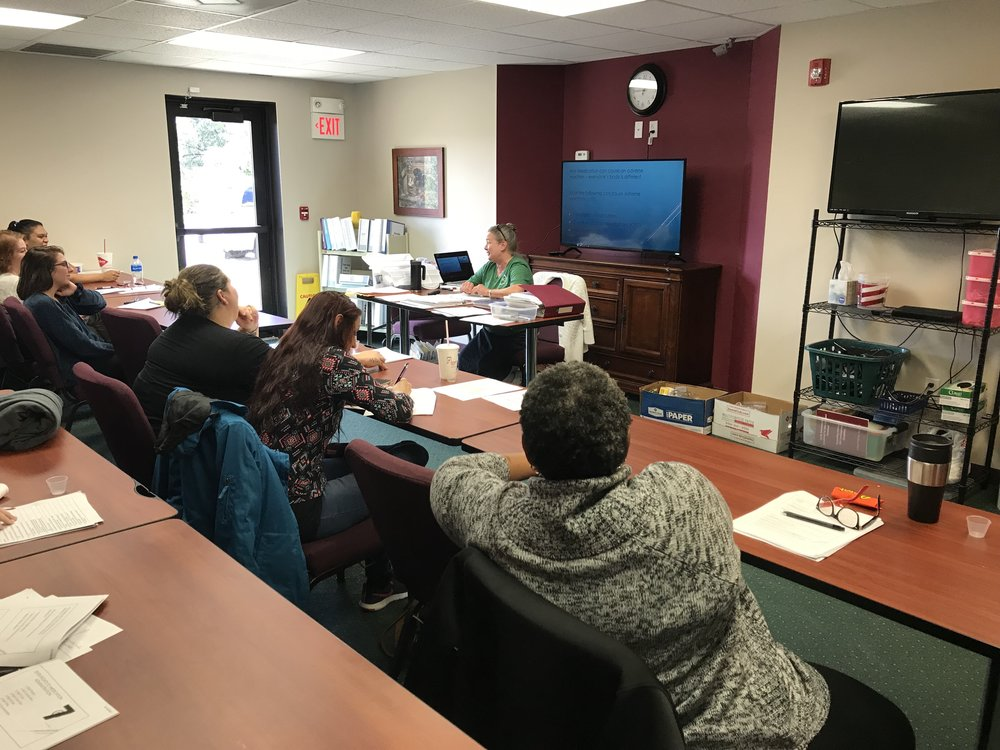 Staff Training - Our team of certified instructors can train your staff in CPR/First Aid, Level One Med Aide, CPI, Insulin Administration, and Positive Behavior Supports.