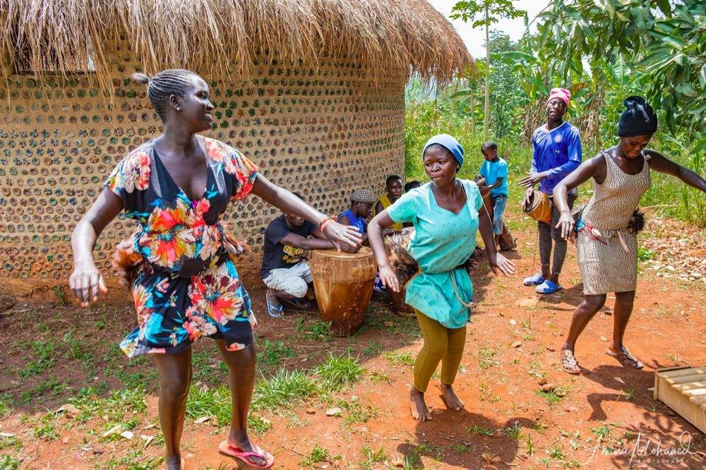 Local women dancing at UKC Uganda, Bombo Town, Uganda