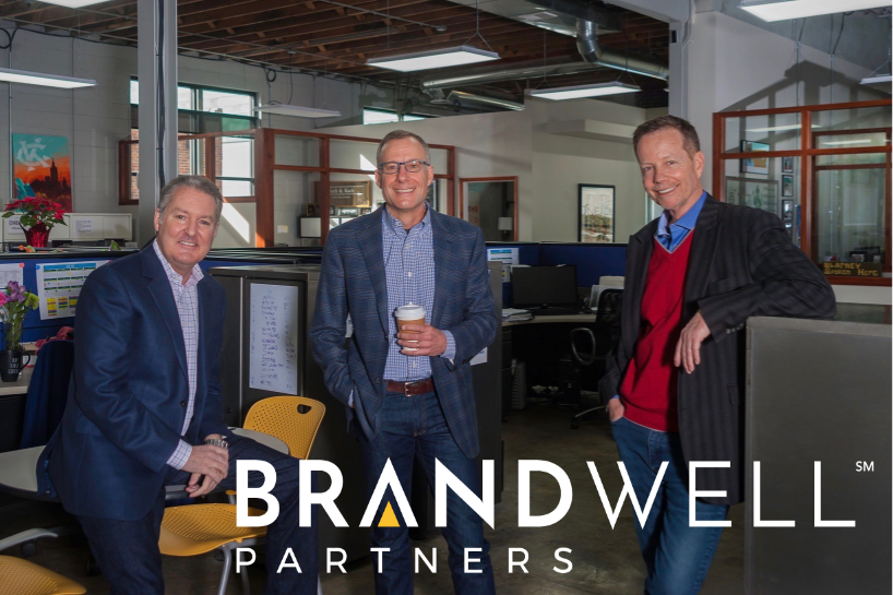 The BrandWell Partners team. From left to right: Brad Lang, Jan Criedenberg, Matt Anthony.