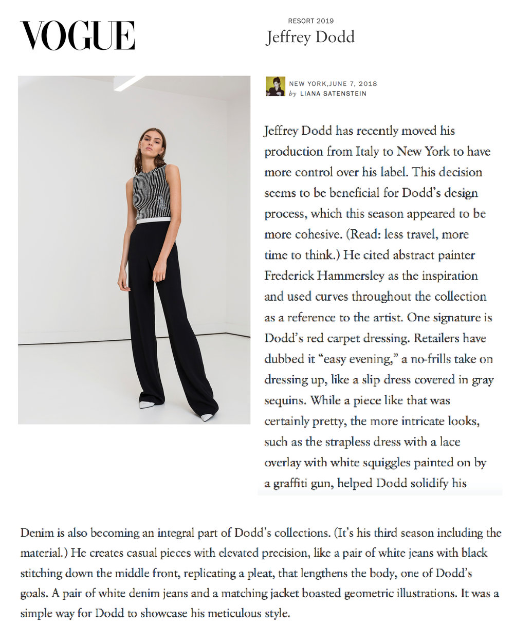 VOGUE REVIEW | RESORT 2019