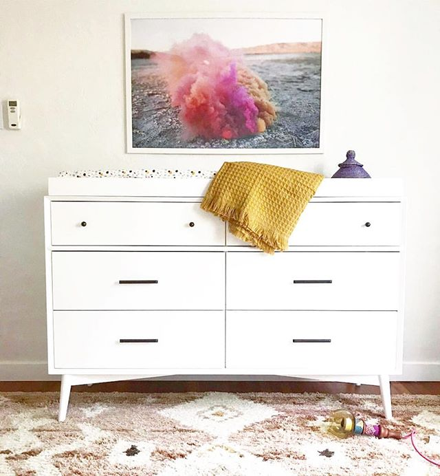 How sweet is this nursery by @studiomatsalla?! We love when our prints land in the spaces that will welcome home babies, it gives us the warm fuzzies and a bunch of other feels! 😭💛