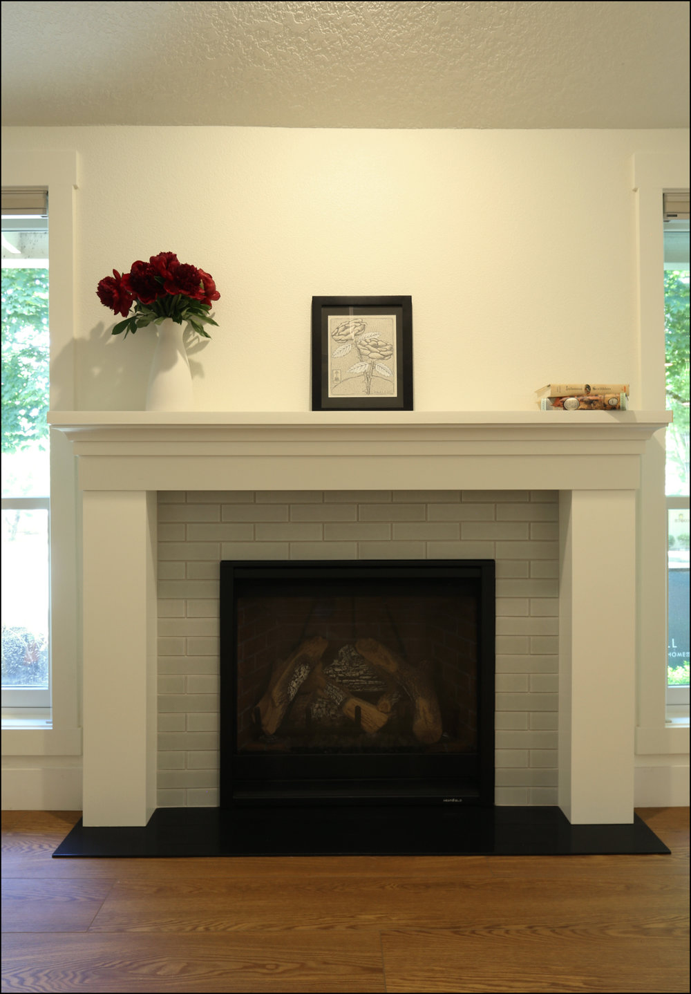 Renovated fireplace in Beaverton.