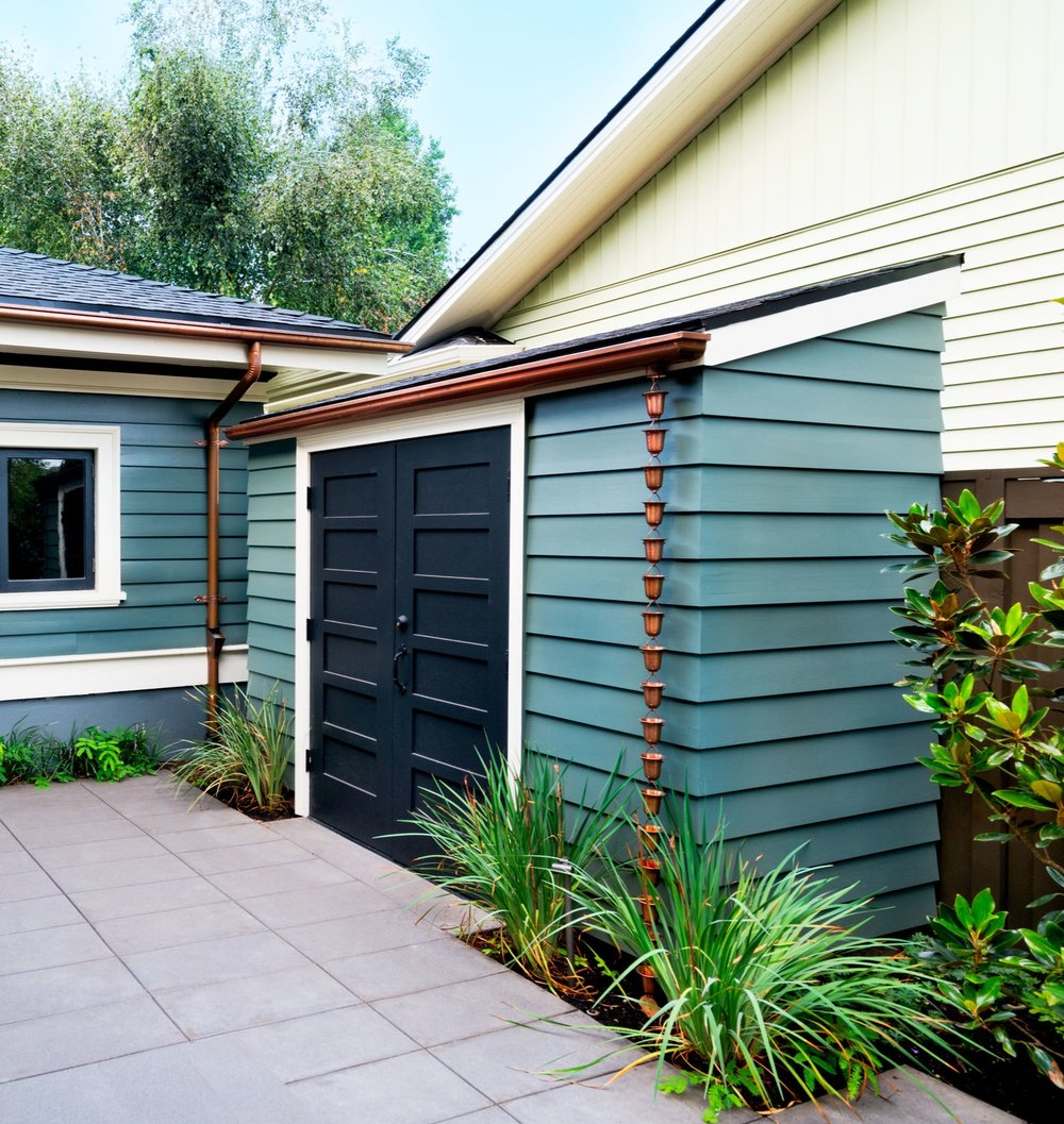 Garden Shed to accommodate surfboard and BBQ storage in Irvington.