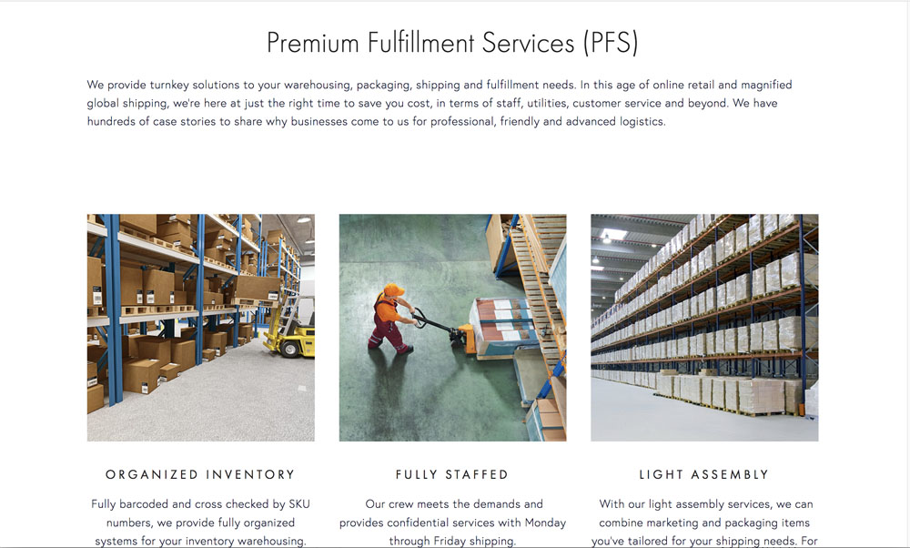 Premium Fulfillment Services: Corporate Services