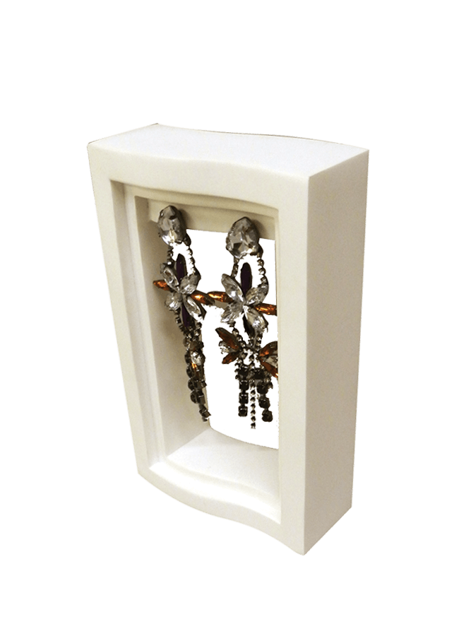 """EARRING WAVE STAND   Item# AD-C2000  Size 4"""" w x 1.5"""" d x 7"""" h"""