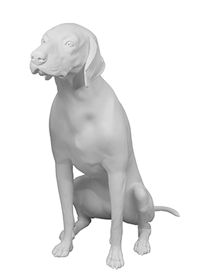 "GERMAN SHORT HAIRED POINTER POS.2   Height 32 ¼""  Width 32 ¼""  Length 15 ¾"""