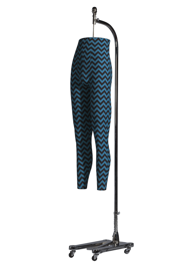 LEG FORM Male   ITEM#: FD-M1405  Height 45.5″ (form only) | Waist 30″ | Hip 38″ |  Fabric & finish options available