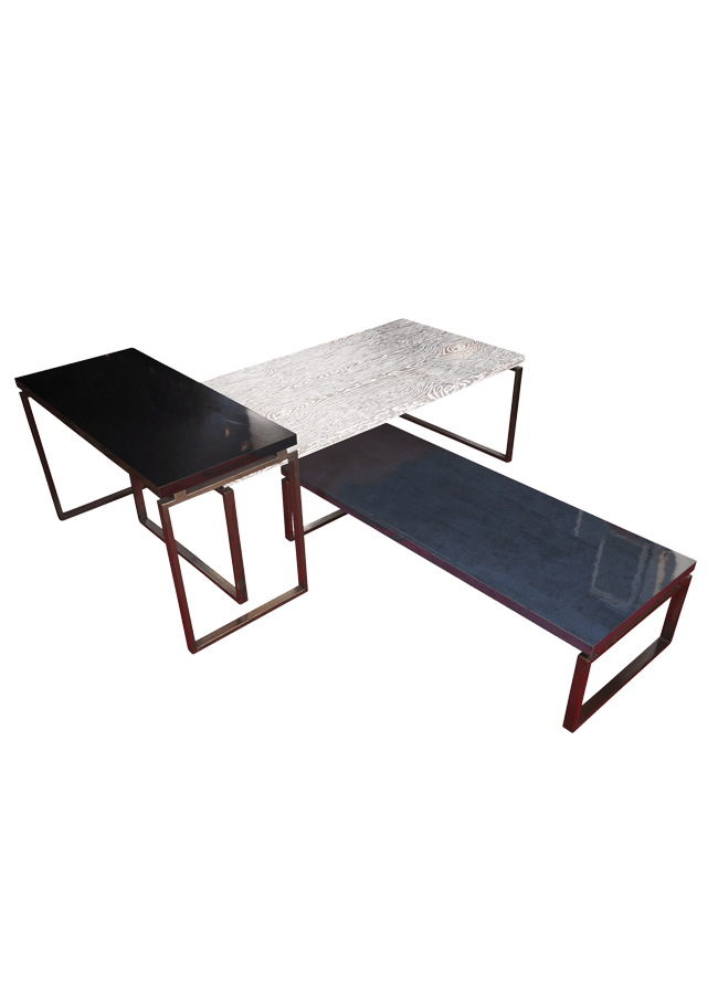 "Mercantile Collection – Mercantile Table   ITEM#: FC-81674, FC-81677, FC-81678  FC-81672 - 72"" x 30"" x 18"", FC-81677 - 84"" x 40"" x 28"", FC-81678 - 60"" x 26"" x 34""  Other finishes are available"