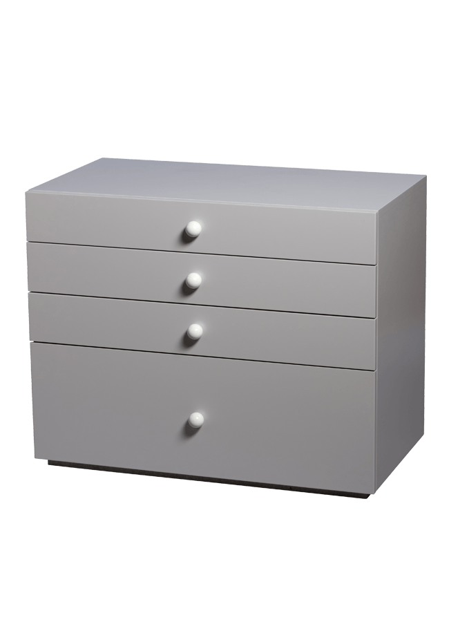 "Modulaire Collection – Credenza   35""w , 19""d x 28""h(12"" & 5"" drawers)  Other finishes are available"