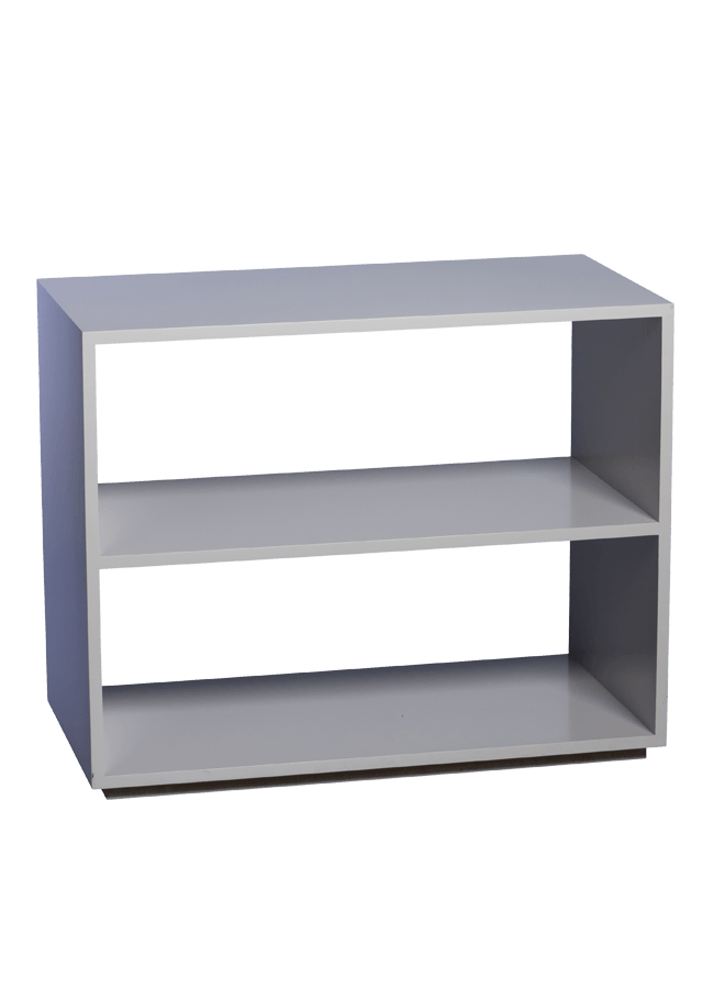"Modulaire Collection – Open Credenza   35""w x 19""d x 28""h(12.375""h shelves)  Other finishes are available"