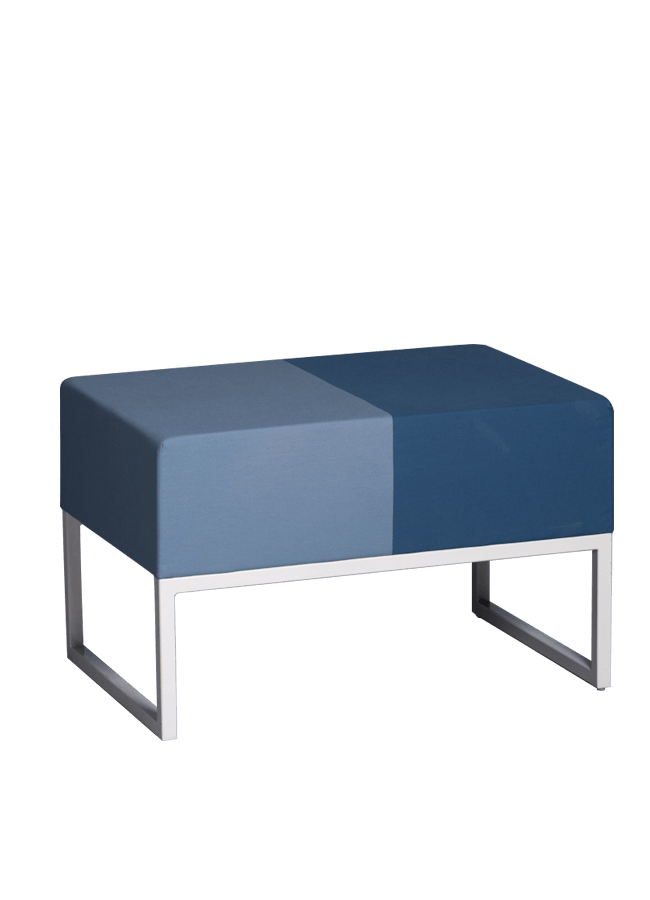 "Modulaire Collection – Ottoman   30""w x 20""d x 18""h, 8"" cushion 10"" leg  Other finishes are available"