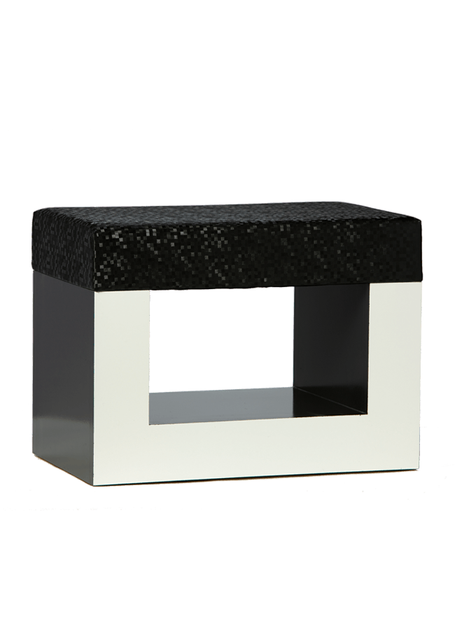 "Open Cube Ottoman   ITEM#: S0824001  24"" x 14 1/2"" x 18""h(4"" thick foam cushion)  Other finishes are available"