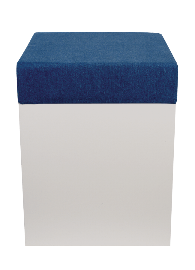 "STOOL   ITEM#: S0732001  14.5"" x 14.5"" x 18""h(3"" thick foam cushion)  Other finishes are available"