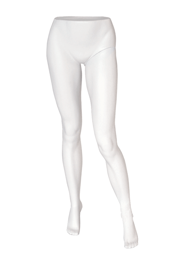 "BERNSTEIN B-LASTIC MANNEQUINS & FORMS - FEMALE   Item# FEM-PANT1  height 39 ½""  waist 28""  hip 33 ¾""  Note: Produced in B-lastic TM . Highly break resistant material . Available in a variety of colors & finishes"