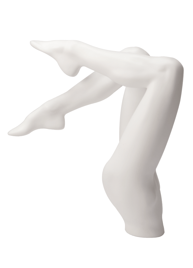 "BERNSTEIN B-LASTIC MANNEQUINS & FORMS - FEMALE   Item# FEM-PANT3  height 26 ½""  waist 25 ¼""  hip 34 ¼""  Note: Produced in B-lastic TM . Highly break resistant material . Available in a variety of colors & finishes"