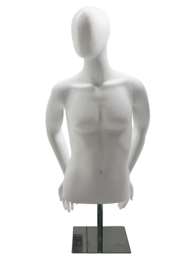 "MD-M1026    Male Measurements:  Height 34 ½"" (form only)  • Shoulder 16""  • Bust 37""  • Waist 30 ½""  • Hip (cut edge) 35 ½"""