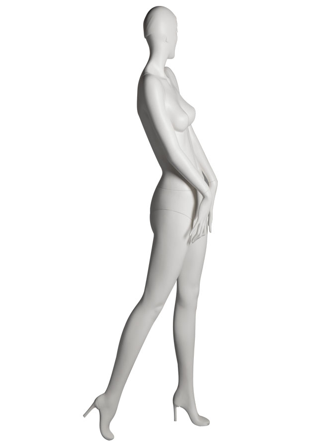 "SHADE _Pose 1 Rside   Measurements:  Height 74""  Bust 32-1/4""  Waist 24-7/8""  Hip 36-1/2""  Footprint 9-1/2""  Heel 4"""