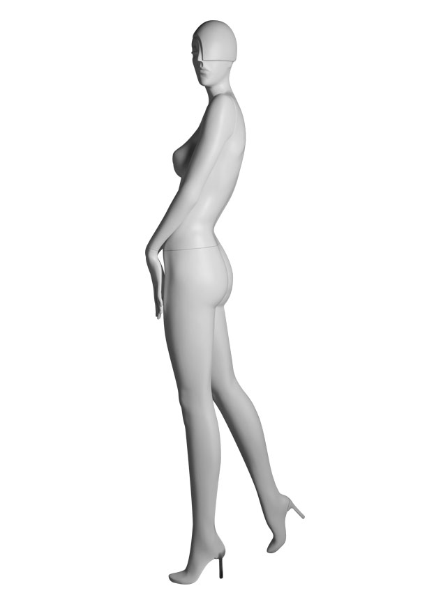 "SHADE Pose 1 Lside   Measurements:  Height 74""  Bust 32-1/4""  Waist 24-7/8""  Hip 36-1/2""  Footprint 9-1/2""  Heel 4"""