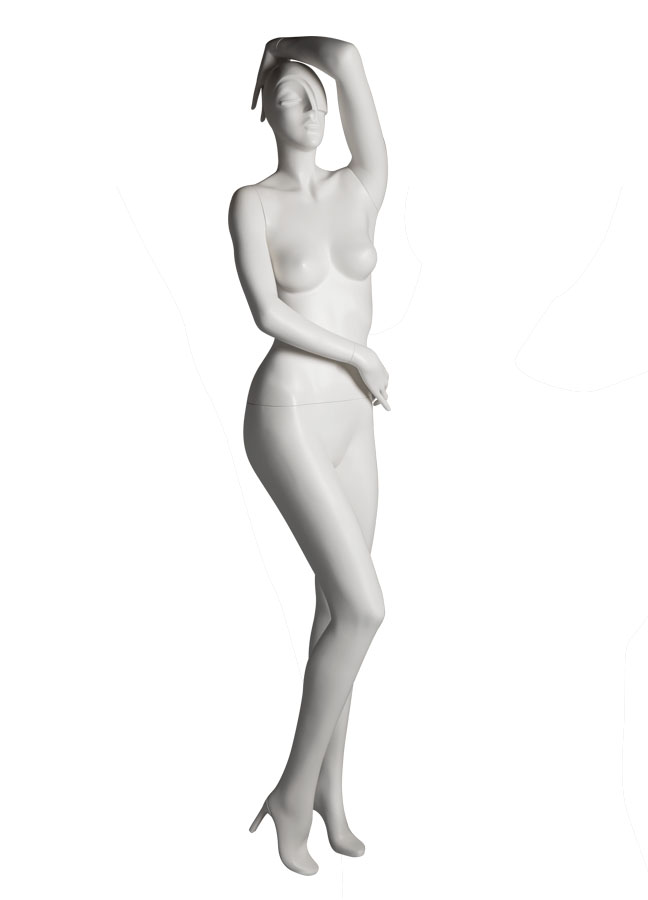 "SHADE Pose 3 RT   Measurements:  Height 74""  Bust 32-1/4""  Waist 24-7/8""  Hip 36-1/2""  Footprint 9-1/2""  Heel 4"""