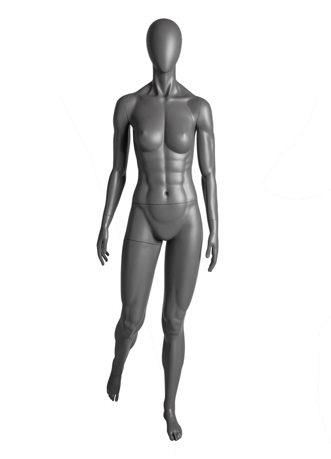 """SQUAD FEMALE POSE 3, Arm A  ITEM# SQ-F3A  Measurements:  Height 71-1/2""""  Bust 36""""  Waist 26-1/2""""  Hip 37"""""""
