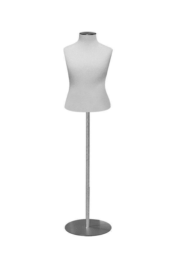 "G015 - 4   Girl Size 10 Dress Form  Height 27 ½"" (form only)  Bust 27 ¼""  Waist 24 ½""  Hip 28"""