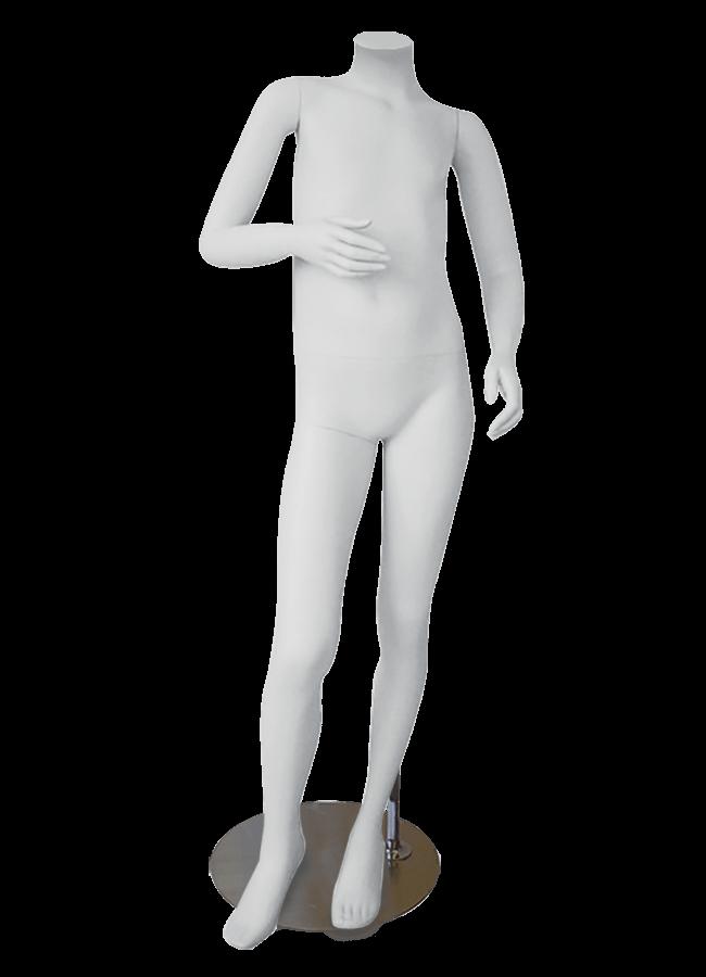 "HEADLESS KIDS 10-12 YEARS  MD-K1001  measurements:  Height 50 ¾""  Chest 24 ¾""  Waist 22 ¼""  Hip 27 ½"""