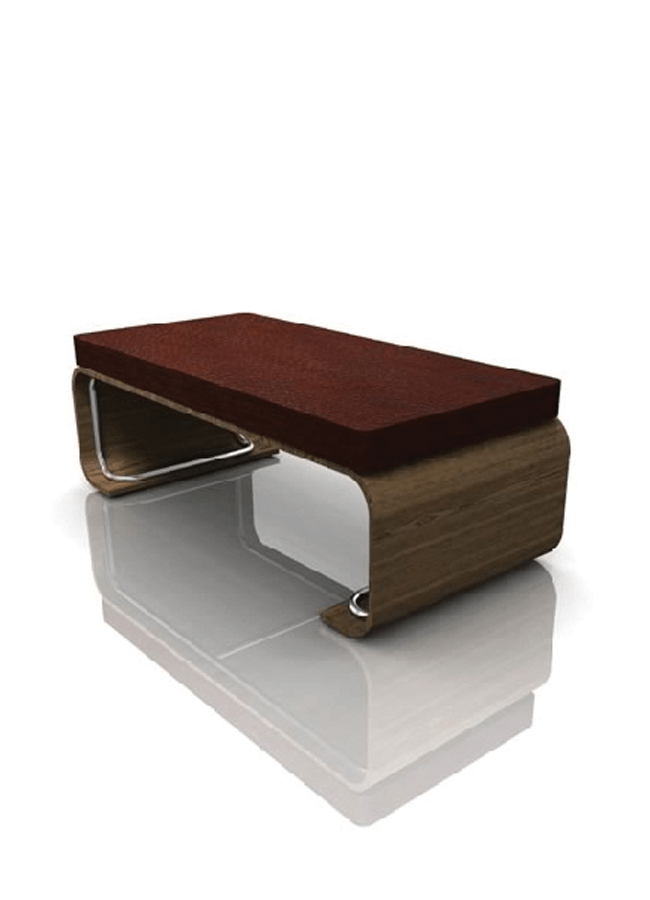 "RIBBON MC-03B-14   Classic Platform w/ Upholstered Cushion  Platform: 72"" x 30"" x 18"" h  Cushion: 72"" x 30"" x 4"" h"
