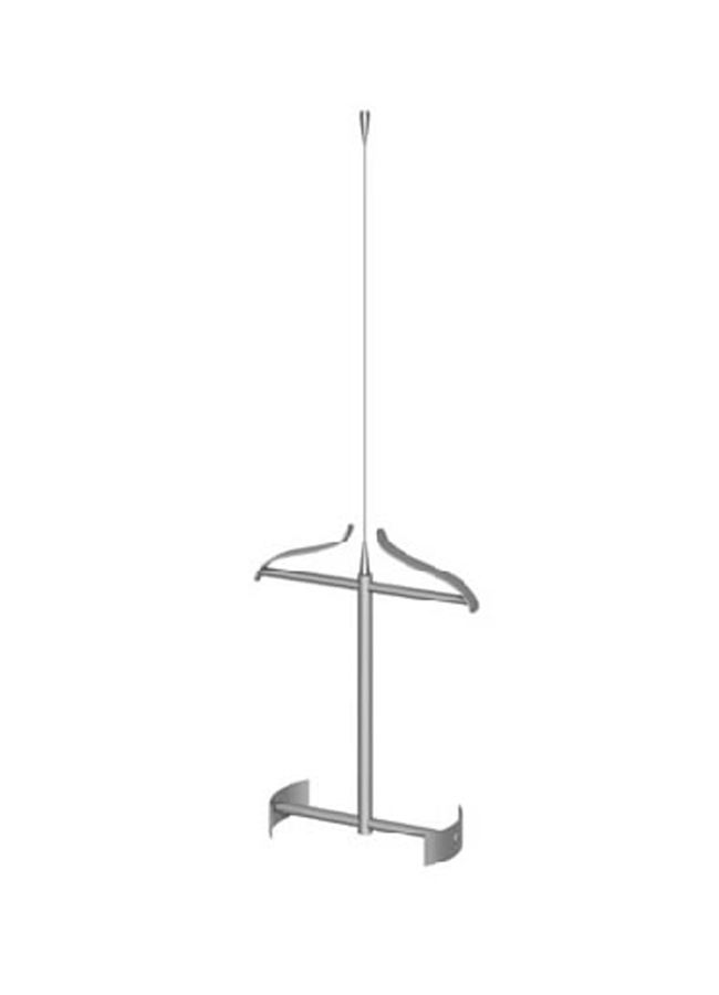 CEILING ITEM 8  Cable Hanger/Pant  Tension Bar Ceiling Channel  AC177A  Size: 32 Waist  Aluminum, Black, White, Silver