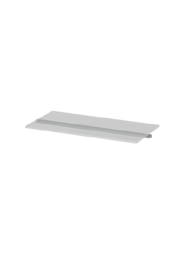 "CEILING ITEM 10  Eye Hook Shelf  GH228P  23 ¾"" x 15"" x 3/8"" Frosted Plexi, Aluminum, Black, White, Silver"