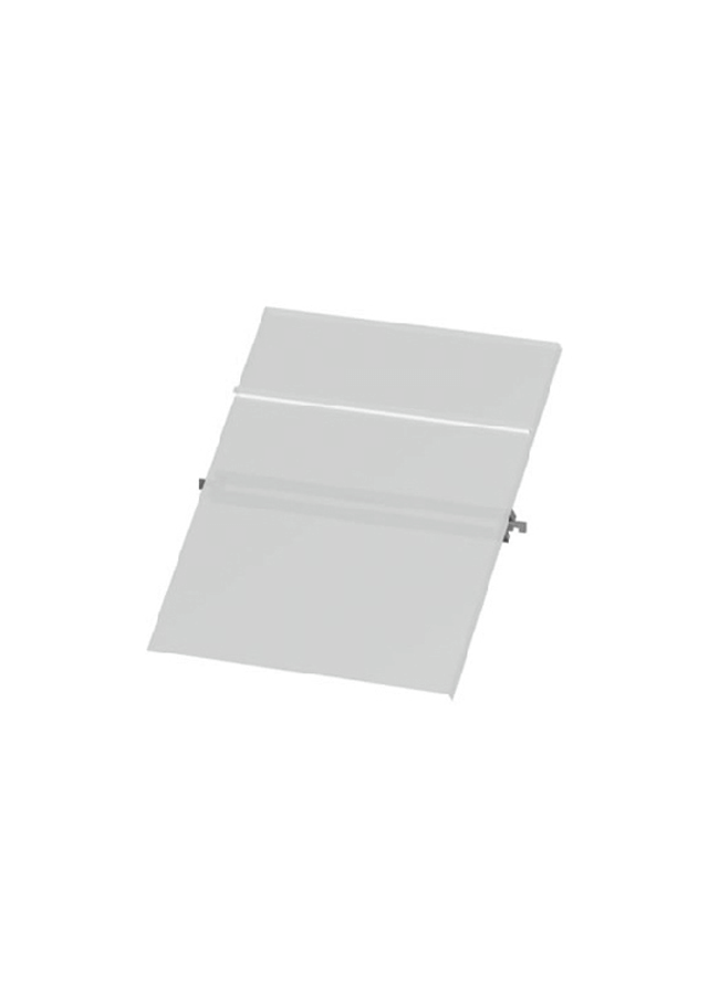 "CEILING ITEM 12  Eye Hook Slant Shoe Shelf  GH255P  12"" x 12"" x 3/8""  Frosted Plexi Hardware colors: Aluminum, Black, White, Silver"