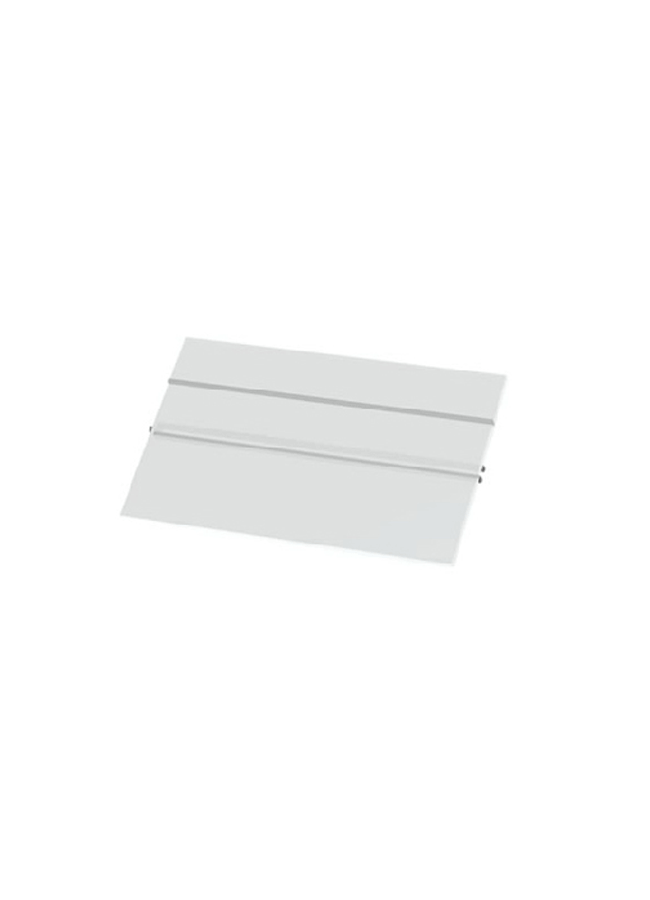"CEILING ITEM 13  Eye Hook Slant Shoe Shelf Long  GH255P  12"" x 14"" x 3/8""  Frosted Plexi Hardware colors: Aluminum, Black, White, Silver"