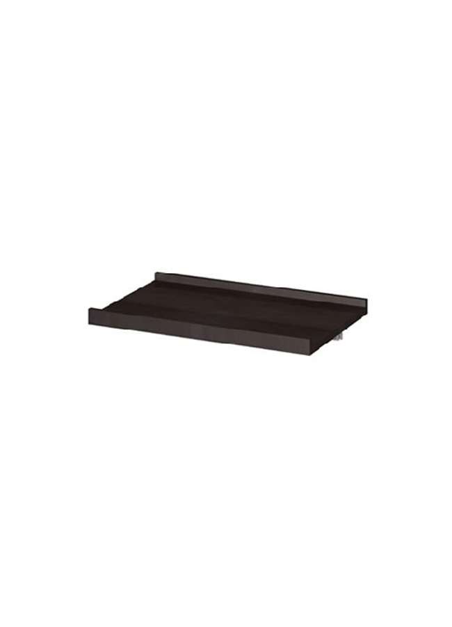 "CEILING ITEM 15  Eye Hook Shelf  GH228P  23 ¾"" x 15"" x 3/8"" Frosted Plexi, Aluminum,  Black,White,Silver"