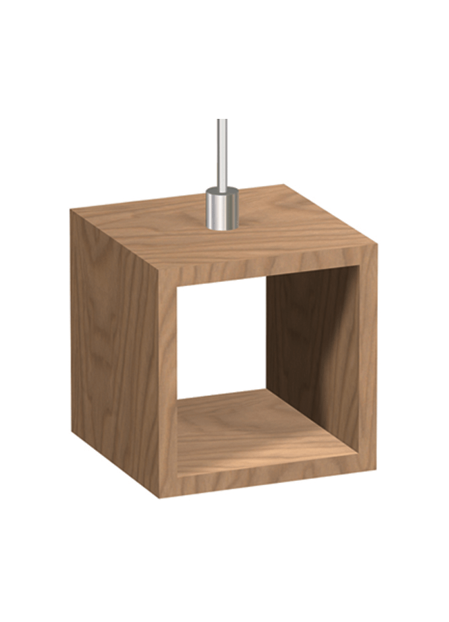"WHS-13  Wood Cubbie 9"" x 9"" x 9""  Walnut Polished Nickel"