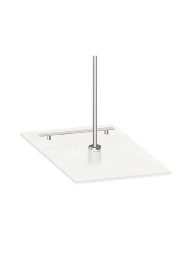 "WHS-15  Plexi Shoe Shelf 10"" x 12"" x 1-1/4""  Frosted Plexi Polished Nickel"